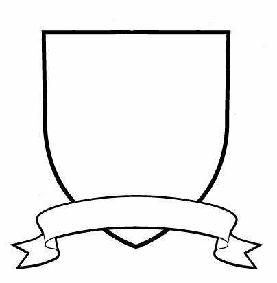 404x412 Crest Outline Clip Art Clipart