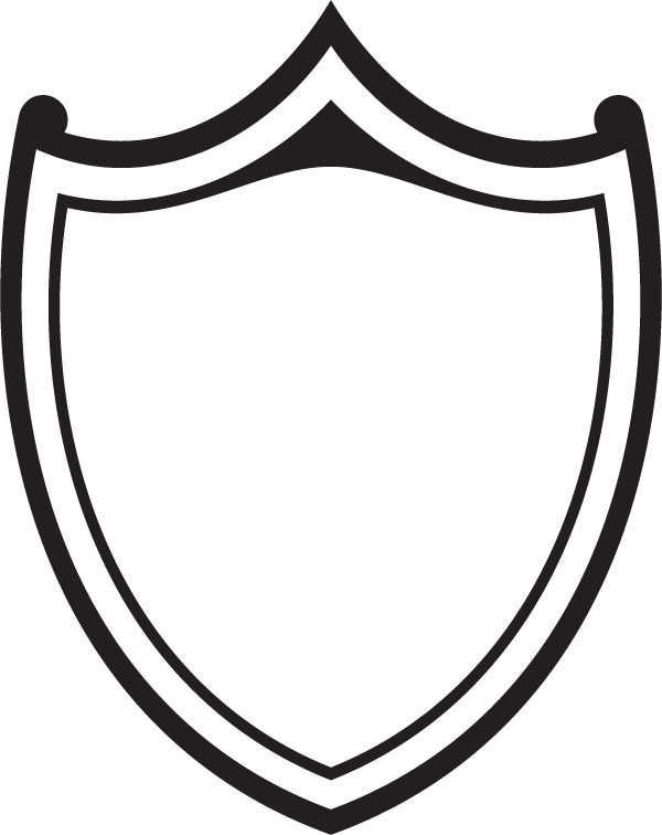 600x756 Clipart Shields