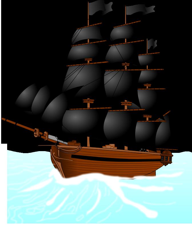 672x800 Best Boat Pirate Clipart
