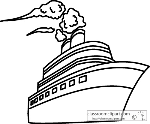 500x413 Ship Clipart Black And White