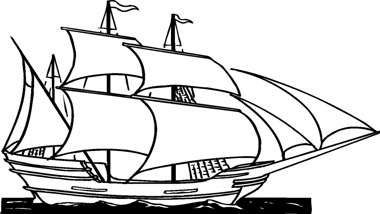 Ship Clipart Black And White