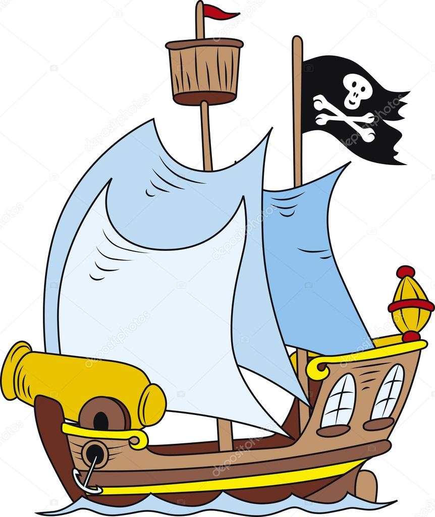 862x1024 Pirate Ship Stock Vectors, Royalty Free Pirate Ship Illustrations