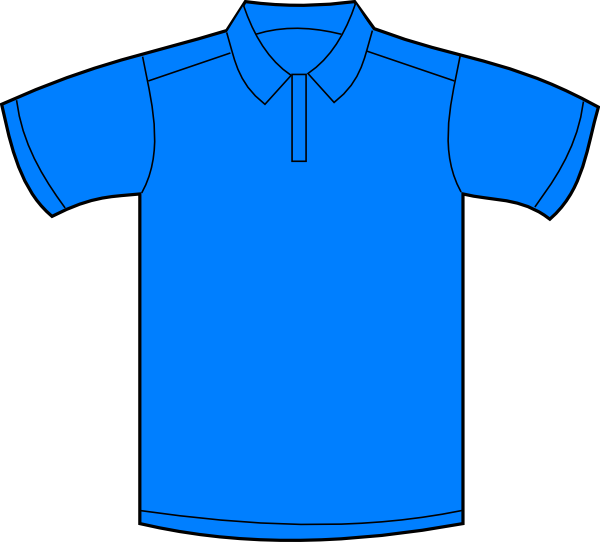 600x542 Polo Shirt Blue Front Clip Art