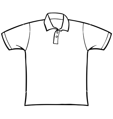 380x400 T Shirt Clipart Black And White