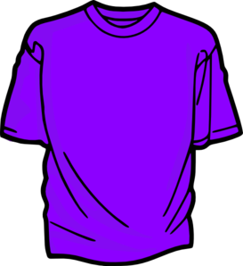 273x298 T Shirt Purple Clip Art