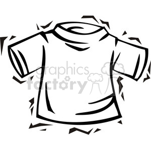 300x300 Royalty Free Black And White T Shirt 385787 Vector Clip Art Image