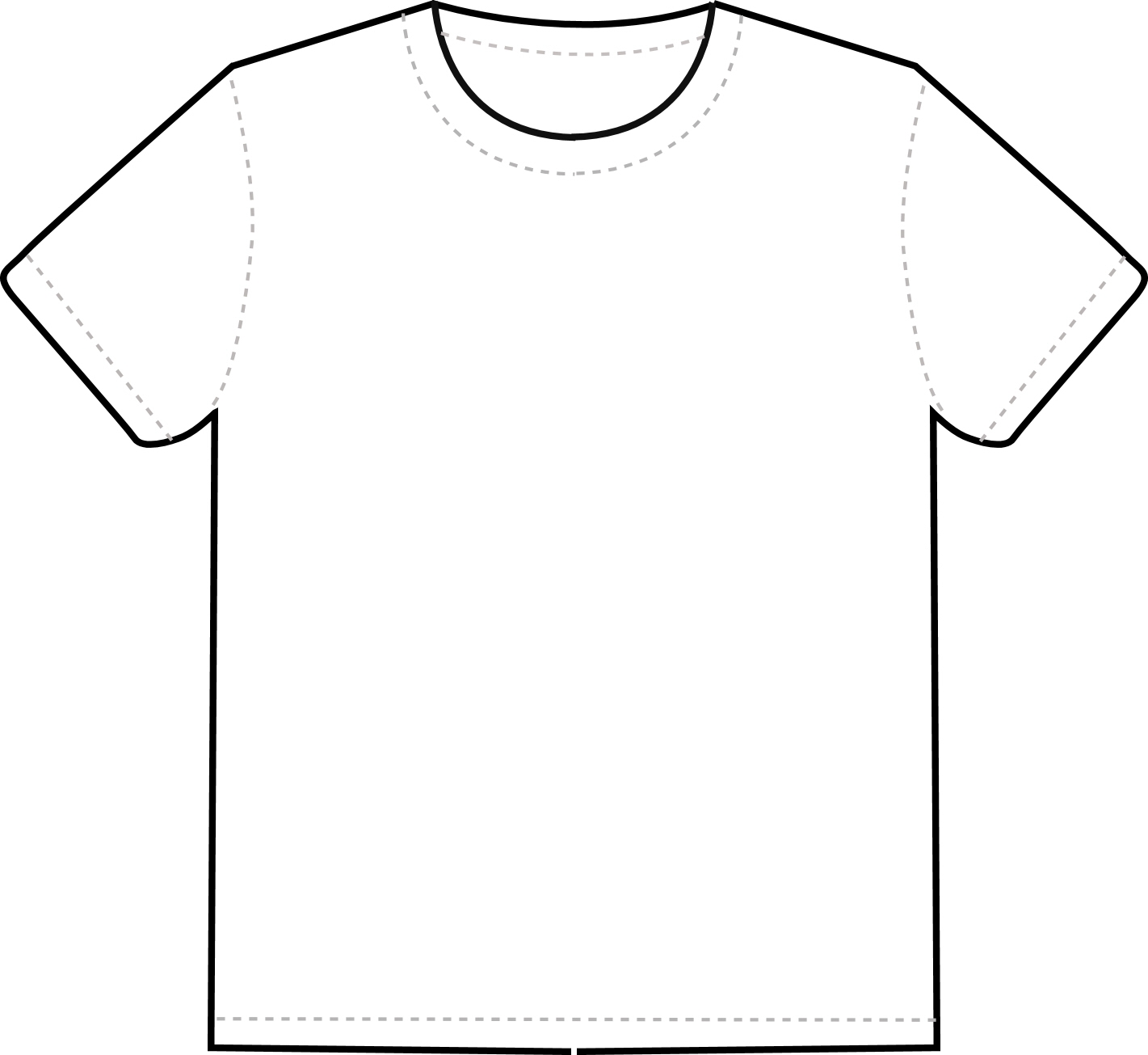 1421x1305 T Shirt Clipart Black And White