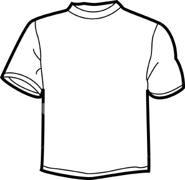 380x368 White T Shirt Clipart