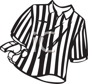 350x334 Black And White Striped Referee Shirt And Whistle