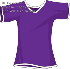 300x297 A Purple Shirt With Short Sleeves Royalty Free (Rf) Clip Art Picture