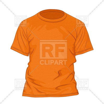 400x400 Orange Textured T Shirt Design Template Royalty Free Vector Clip
