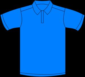 299x270 Polo Shirt Blue Front Clip Art