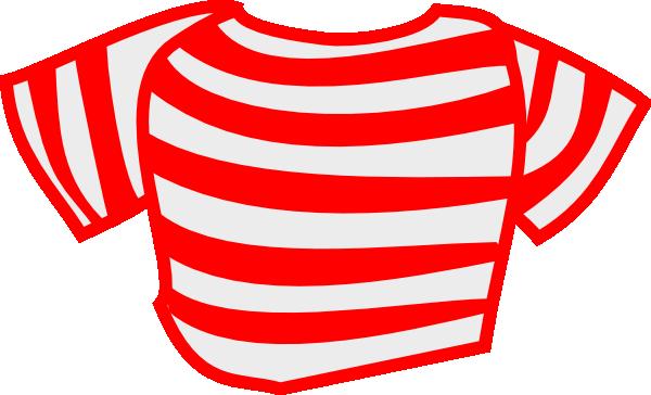600x364 Red Striped Shirt Clip Art