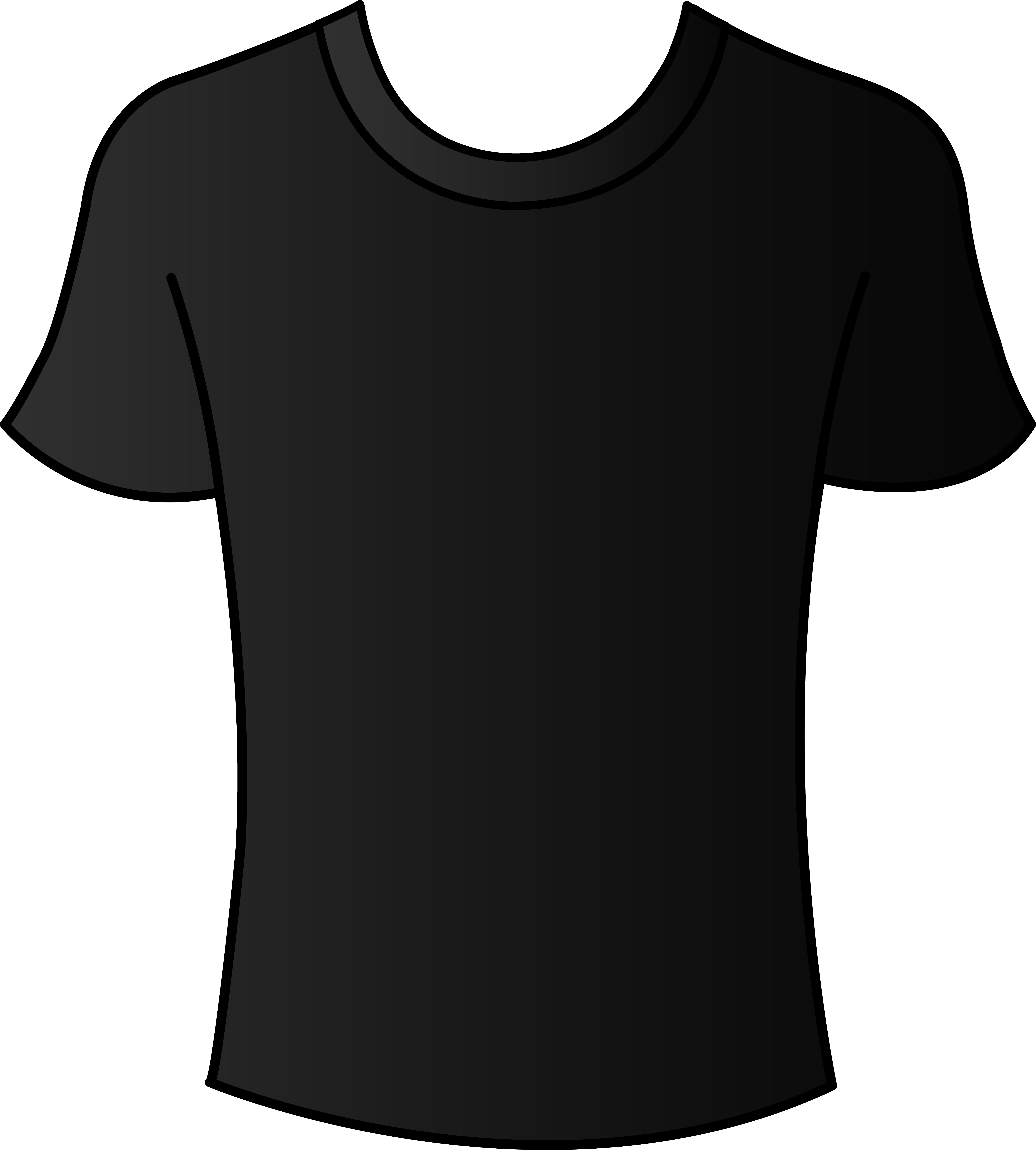 6652x7386 T Shirt Mens Black Shirt Template Free Clip Art
