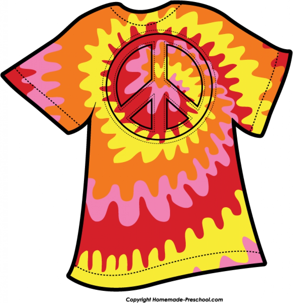 991x1024 Free Peace Sign Clipart With Regard To Tie Dye T Shirt Clipart Tie