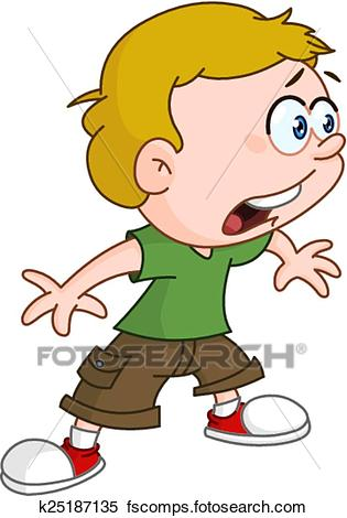 315x470 Clipart Of Shocked Kid K25187135