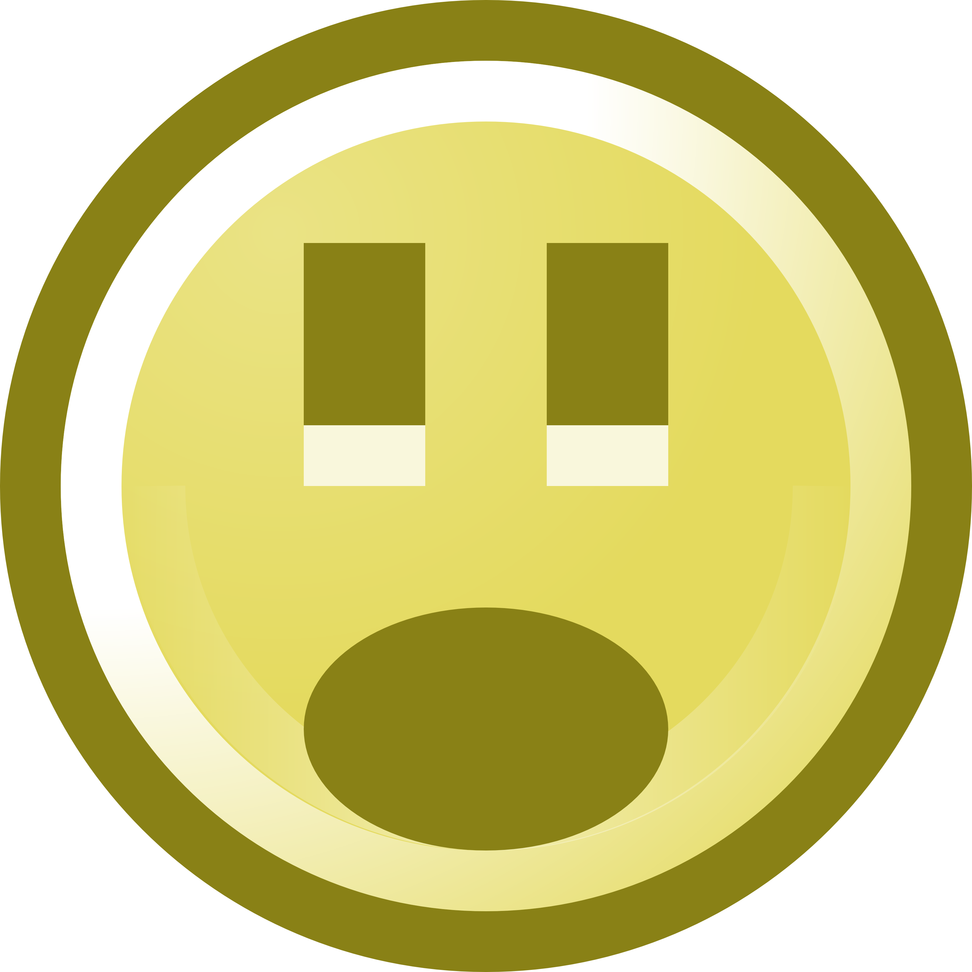 3200x3200 Free Shocked Smiley Face Clip Art Illustration