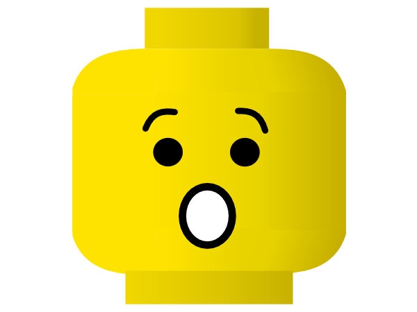600x450 Lego Smiley Shocked clip art Free Vector 4Vector