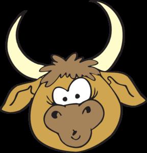 288x300 Shocked Bull Clip Art