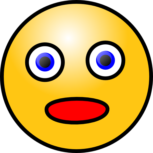 600x600 Smiley Shocked Clip Art