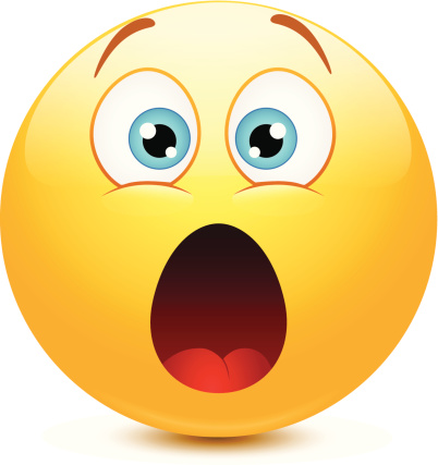 402x427 Clipart Shocked Face