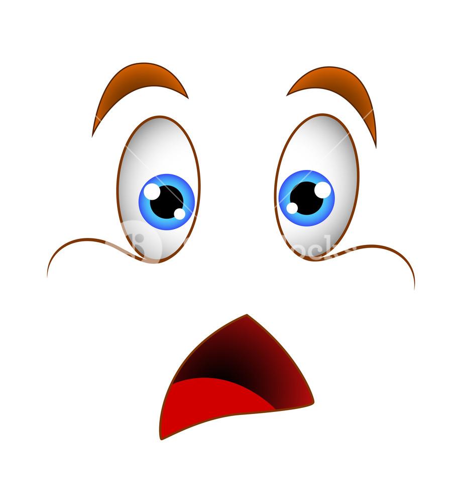 920x1000 Shocked Face Illustration Royalty Free Stock Image
