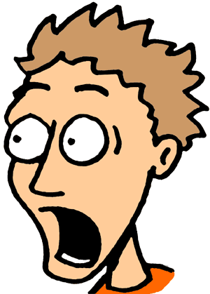 300x419 Shocking Clipart Frightened Face