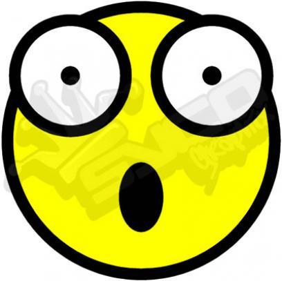 408x407 Shocked Emoticon Clipart