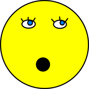 300x300 Surprised Smiley Face Clip Art