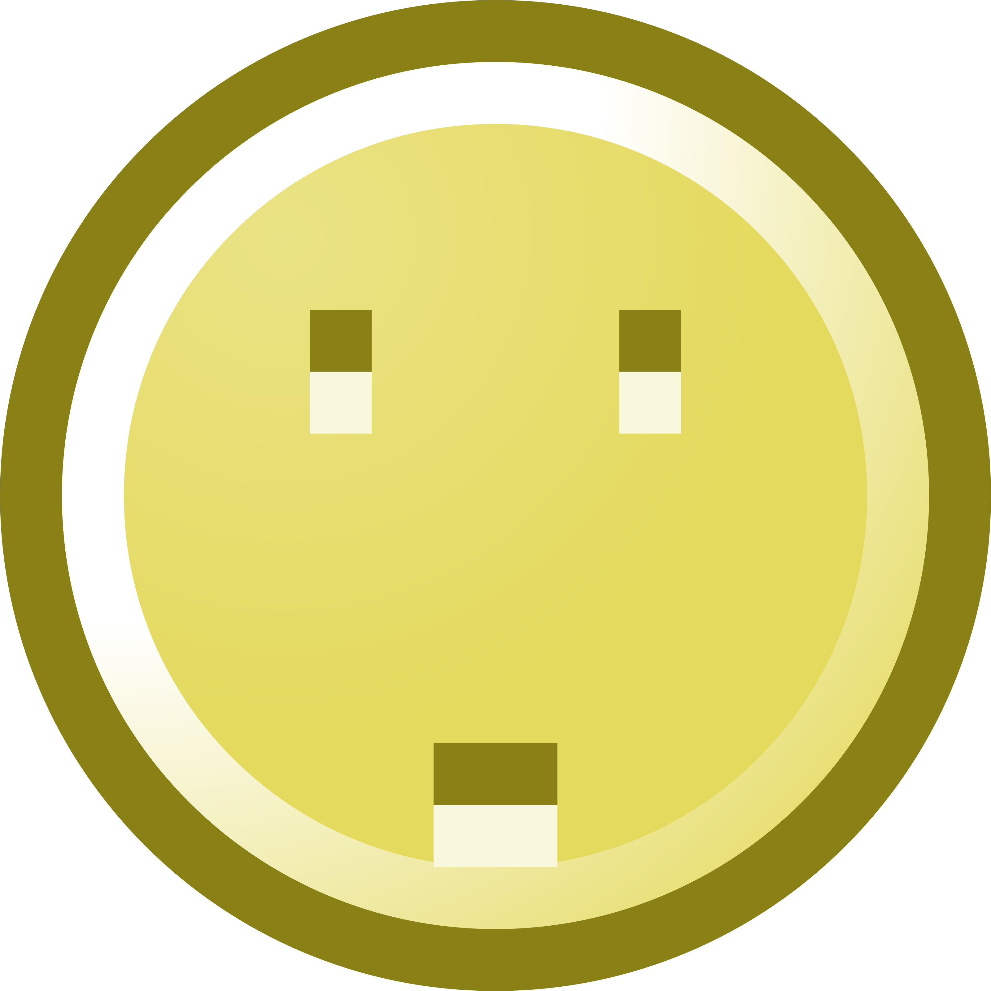 3200x3200 Worried Smiley Face Clip Art Illustration