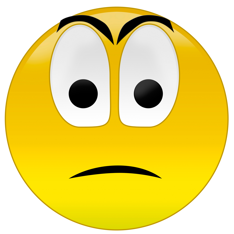 2401x2400 Emotions Clipart Sad Emoticon