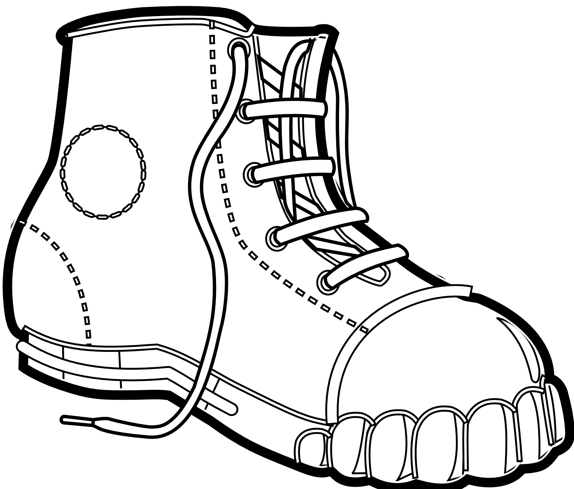 1969x1676 Boots Clipart Black And White