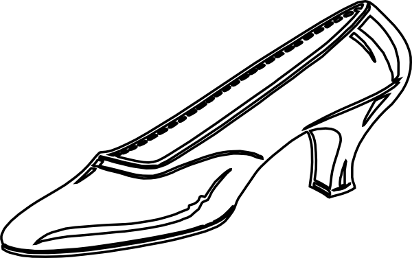 600x376 Free Shoes Clipart Black And White Image