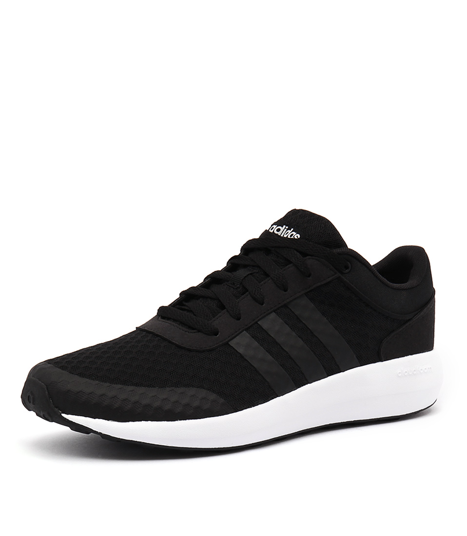 958x1100 New Adidas Neo Cloudfoam Race Men's Black Black White Mens Shoes