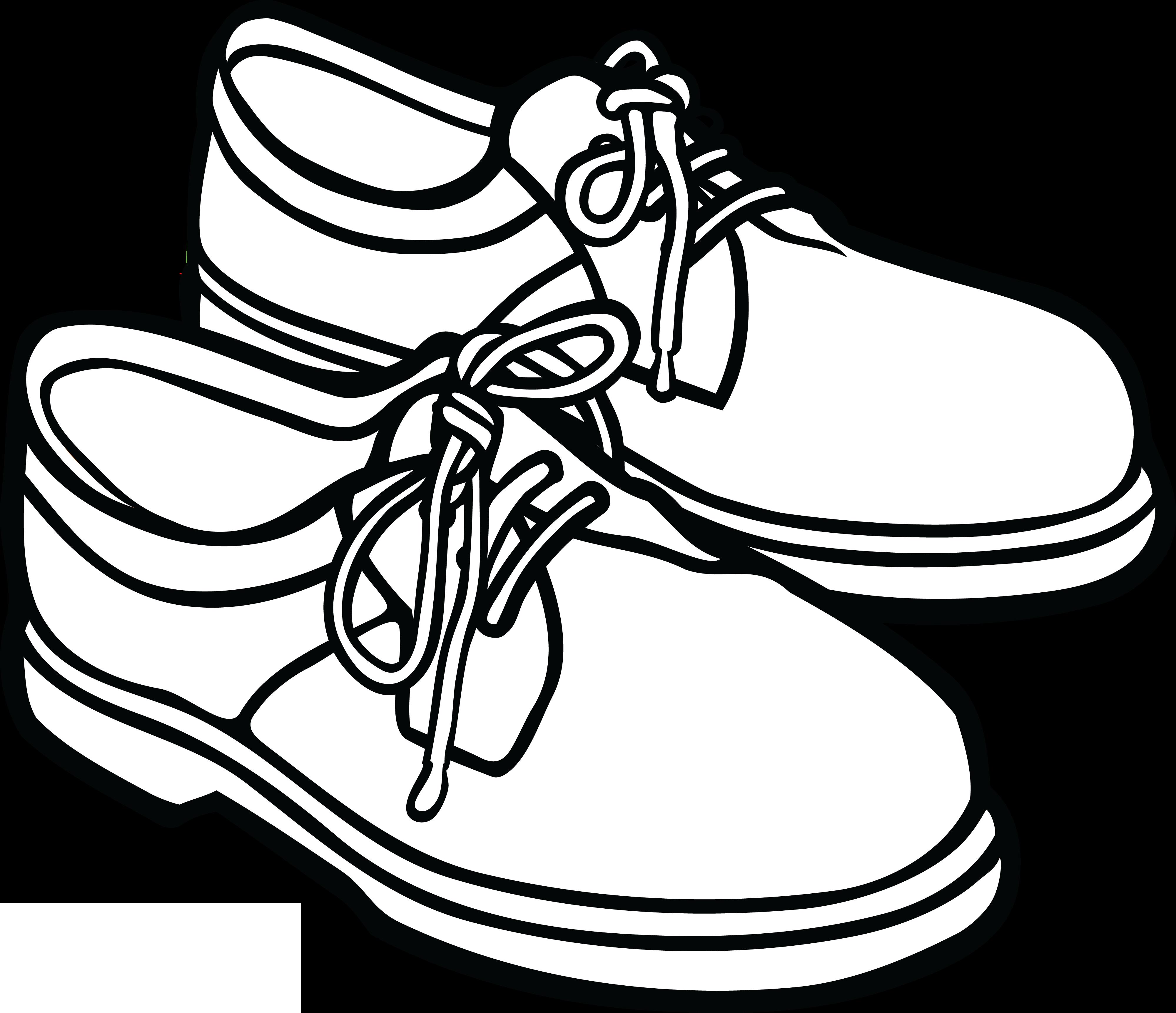 4000x3446 Shoe Clip Art Black And White