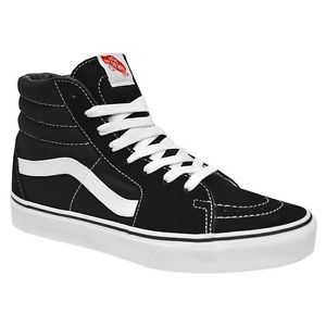 300x300 Vans Classic SK8 Hi Top Black White Fashion Mens Womens Shoes Size