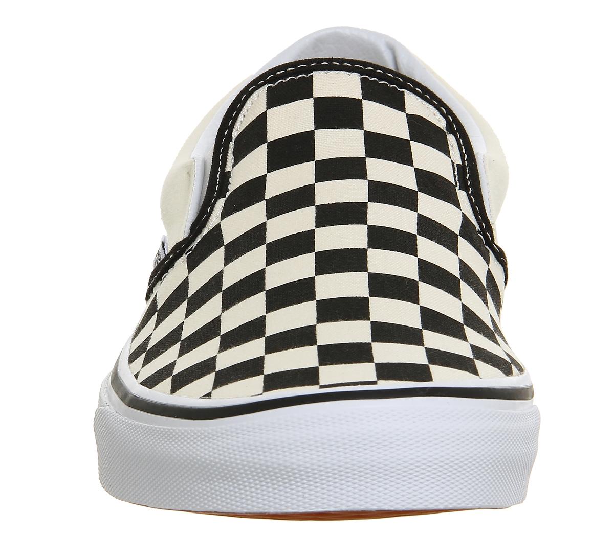 1200x1049 Vans Classic Slip On Shoes Black White Check