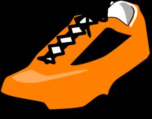 299x234 Orange Shoe Clip Art
