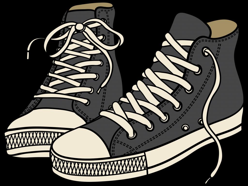 1024x768 Pleasurable Shoe Clip Art Free Tennis Shoes Clipart Of 3370