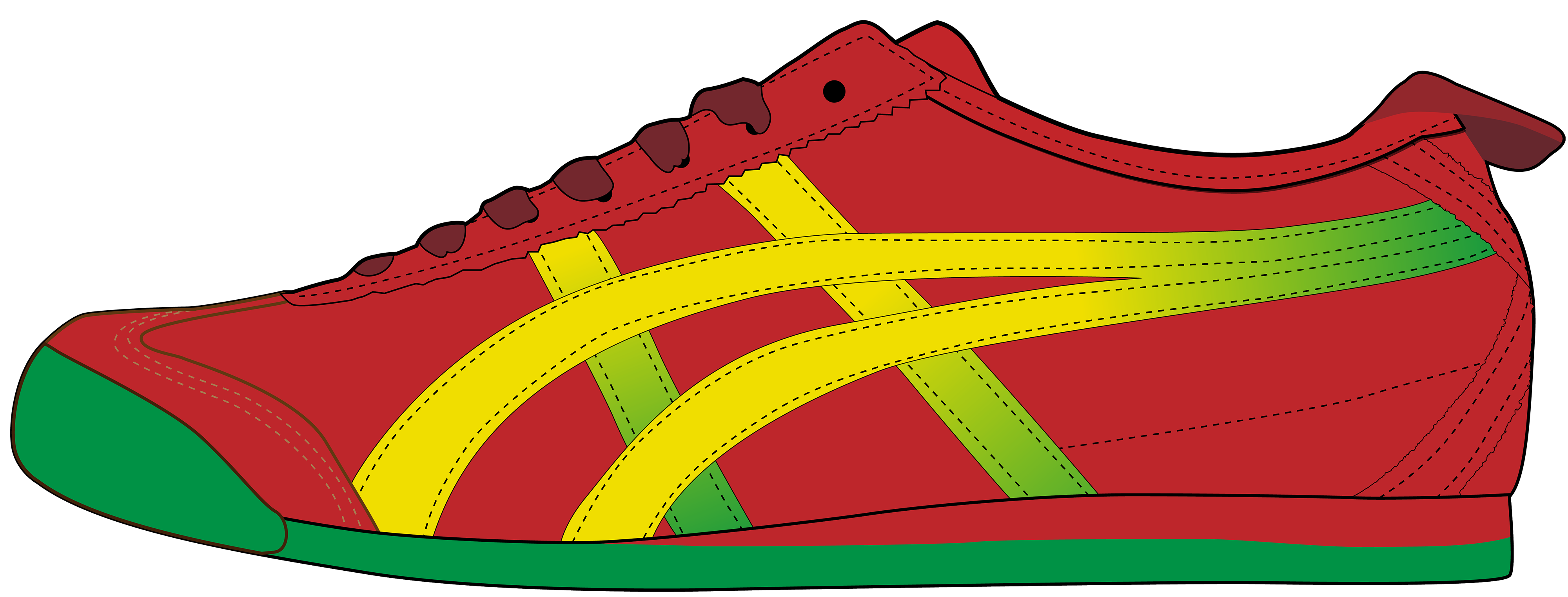 4000x1522 Red Men Sport Shoe Png Clipart