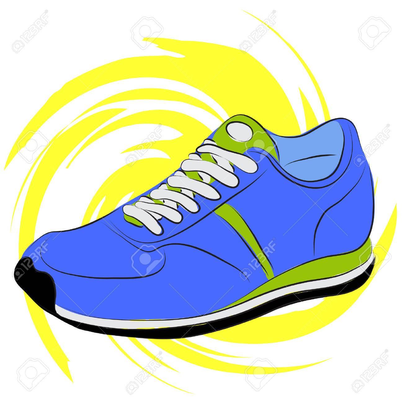 1300x1300 Blue Clipart Running Shoe