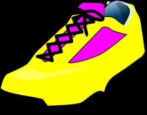 299x234 Sneaker Yellow Shoe Clip Art