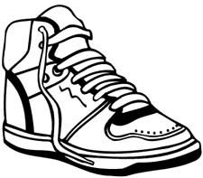 225x197 Shoe Clip Art Black And White Clipart Panda