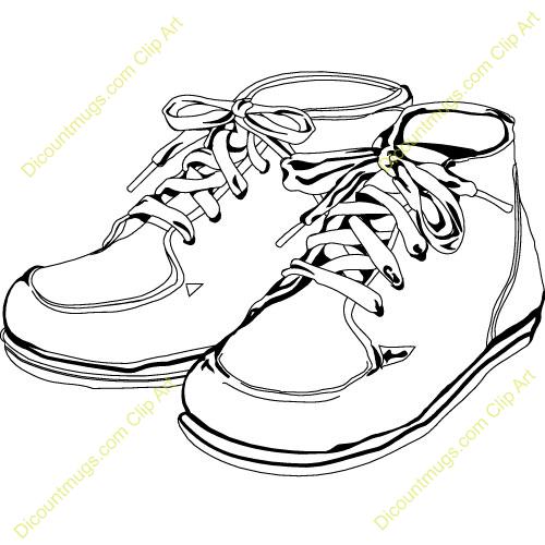 500x500 Shoe Clipart Shoe Outline