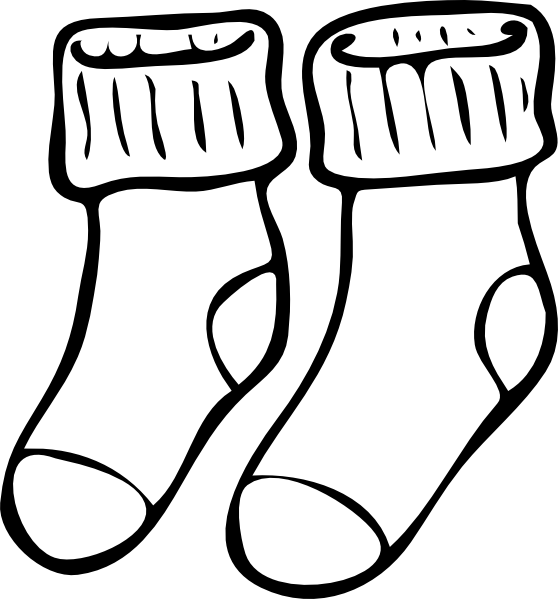 558x599 Shoes And Socks Clipart