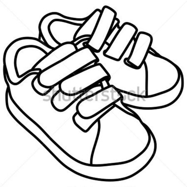 380x380 Sneakers Clipart Black And White