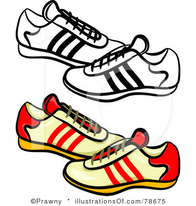 400x420 Tennis Shoes Clipart