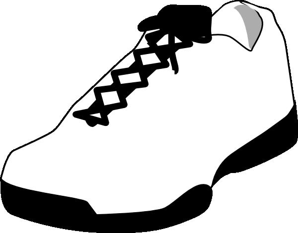 600x470 Tennis Shoe Shoe Outline White Clip Art