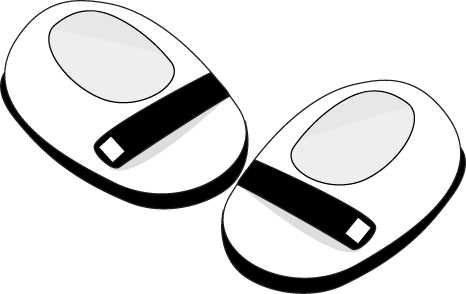 466x294 Black And White Baby Shoes Clip Art