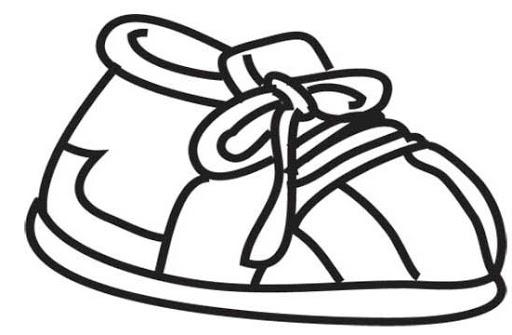 512x335 Kid Shoe Clipart